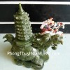 Long quy cõng tháp đá Lam ngọc H029