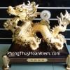 Rồng vàng đế gỗ lớn A154