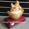 Phật di lặc ngồi trên nén vàng E311