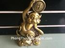 Khỉ đồng ôm chữ phước D172