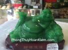 Phật di lạc ngọc xanh đế gỗ G136A