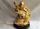 Phật di lạc quả đào vàng trên hồ lô vàng G152A