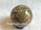Quả cầu đá hồng lục bảo (Vỏ Ruby) DT178-2070