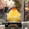 Phật di lạc vàng cam ngồi ngai vàng C135A