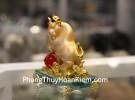 Trâu vàng trên đế thủy tinh C115A