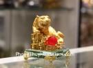 Hổ trên đống tiền đế thủy tinh C124A