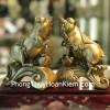 Đế vương heo đồng ngậm xâu tiền trên kim ngân(chiêu tài tấn bảo) D299