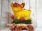 Vua heo vàng cam trên mây mẫu đơn LN015