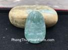 Phật bản mệnh Phỉ Thúy xanh đậm lớn tuổi Tý S6864-1