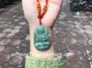 Phật bản mệnh Phỉ Thúy xanh đậm lớn tuổi Sửu+Dần S6864-2