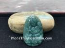 Phật bản mệnh Phỉ Thúy xanh đậm lớn tuổi Thìn+Tỵ S6864-4