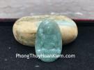 Phật bản mệnh Phỉ Thúy xanh đậm lớn tuổi Ngọ S6864-5