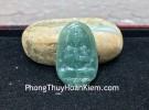 Phật bản mệnh Phỉ Thúy xanh đậm lớn tuổi Thân + Mùi S6864-6