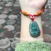 Phật bản mệnh Phỉ Thúy xanh đậm sắc sảo A+ nhỏ (Dậu) S6865-7