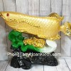 Thần cá kim long vàng trên bẹ cải LN165