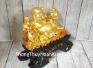 Phật di lạc vàng bên ngũ đồng tử LN188