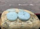 Mặt đồng tiền sắc cạnh ngọc phỉ thúy S6873