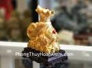 Chuột vàng thuận tâm như ý đế gỗ TM022