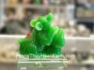 Chuột ôm hồ lô xanh trên đế thuỷ tinh TM035