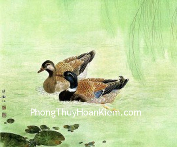 chim uyen uong Ý cảnh trong tranh trang trí nên mang ý nghĩa cát tường