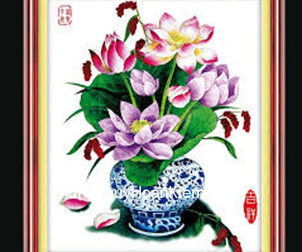 binh hoa Tranh bình hoa