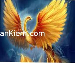 phuong hoang lua1 300x250 Tranh chim phượng hoàng đỏ