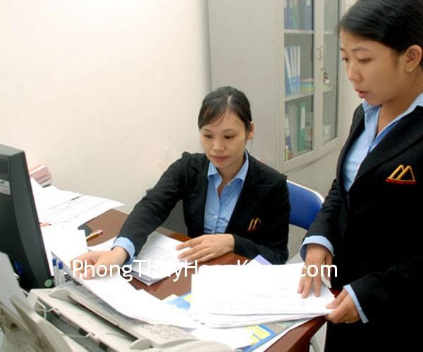 nhan vien Lựa chọn vị trí phòng tài vụ thế hợp với tọa hướng của công ty