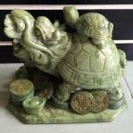 HM033.1 150x150 Rùa đầu rồng Lam Ngọc cõng con lớn HM033