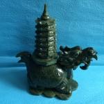 IMG 1981 150x150 Rùa đầu rồng lam ngọc cõng tháp nhỏ HM034