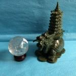 IMG 1982 150x150 Rùa đầu rồng lam ngọc cõng tháp nhỏ HM034