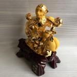 K037M.2 150x150 Khỉ gánh tiền vàng quả đào K037M
