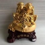 K066M.3 150x150 Song khỉ tài lộc ngồi túi tiền vàng K066M