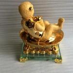 K069M.1 150x150 Song khỉ tài lộc ngồi túi tiền vàng K066M