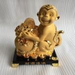 k054m.3 150x150 Khỉ tài lộc ôm túi vàng K054M