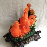 g019a.1 150x150 Gia đình gà bên sen màu ngọc cam G019A