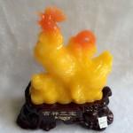 g022.3 150x150 Gia đình gà ngọc vàng trên đế gỗ G022A
