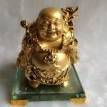 g139a.3 150x150 Phật di lặc vàng đứng trên đế thủy tinh G139A