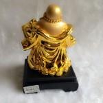 g143a.2 150x150 Phật di lặc vàng đứng gánh như ý xâu vàng đế gỗ G143A