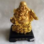 g143a.3 150x150 Phật di lặc vàng đứng gánh như ý xâu vàng đế gỗ G143A