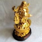 g148.1 150x150 Phật di lạc gánh như ý tiền hồ lô vàng trên nguyên bảo lớn G148A