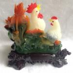 g018a.1 150x150 Gia đình gà bên sen màu ngọc trắng G018A