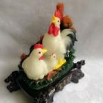 g018a.2 150x150 Gia đình gà bên sen màu ngọc trắng G018A