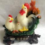 g018a.3 150x150 Gia đình gà bên sen màu ngọc trắng G018A