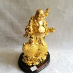 g152a.1 150x150 Phật di lạc quả đào vàng trên hồ lô vàng G152A