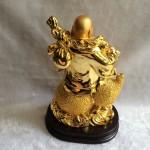 g152a.2 150x150 Phật di lạc quả đào vàng trên hồ lô vàng G152A