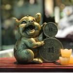 d298.2 150x150 Vua heo đồng tài lộc ôm tiền vàng chiêu tài tấn bảo D298