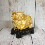 ln036 heo vang nhan sam lon 1 150x150 Vua heo vàng cầm gậy như ý trên đế gỗ LN036