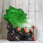 ln066 bap cai mau don 150x150 Bắp cải xanh khủng chữ Phước trên bụi mẫu đơn đỏ LN065