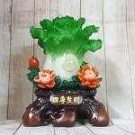 ln068 bap cai xanh mau don 2 150x150 Bắp cải xanh đứng lớn trên bụi mẫu đơn đỏ đế gỗ LN068