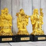 ln115 tam da kim sa 150x150 Tam đa phước lộc thọ vàng kim sa đế gỗ trung LN115
